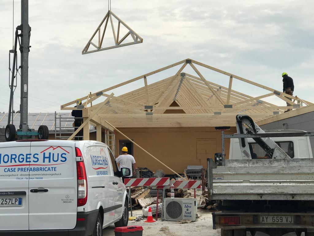 Installation of prefabricated houses - norgeshus
